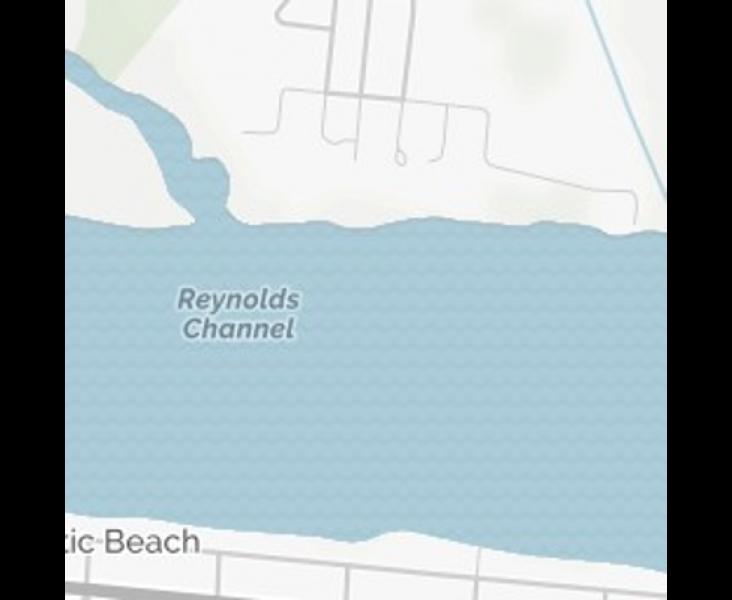 Property abuts Reynolds Channel